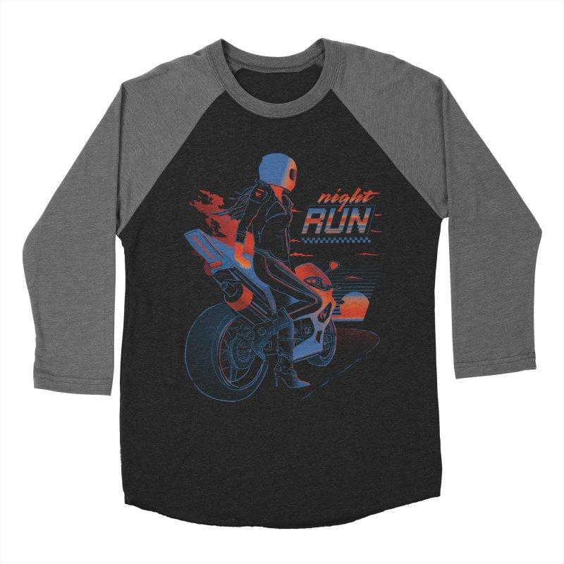 Night Run Women's Longsleeve T-Shirt by Dega Studios