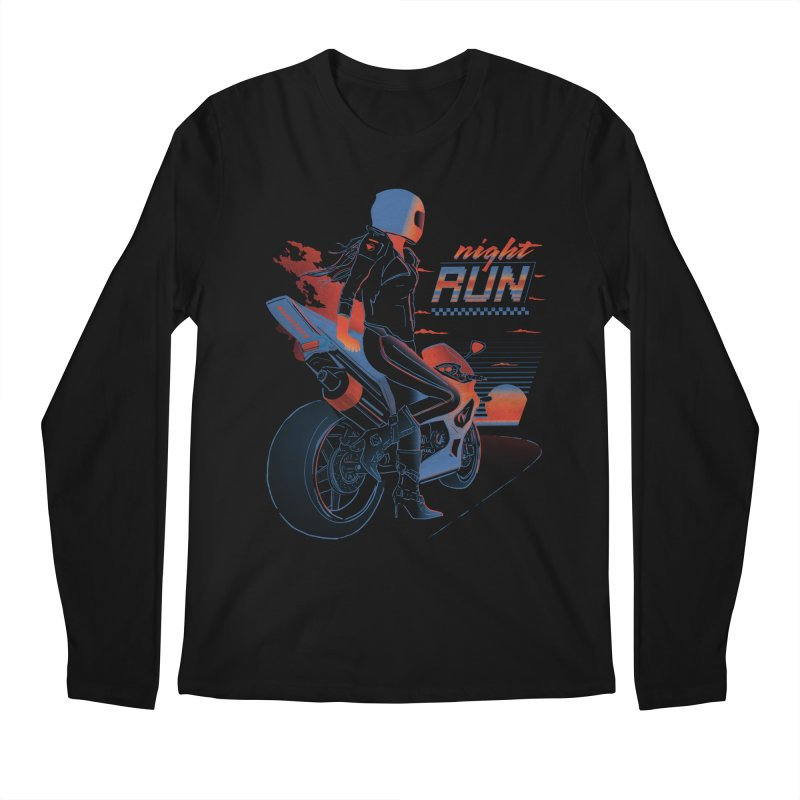 Night Run Men's Regular Longsleeve T-Shirt by Dega Studios