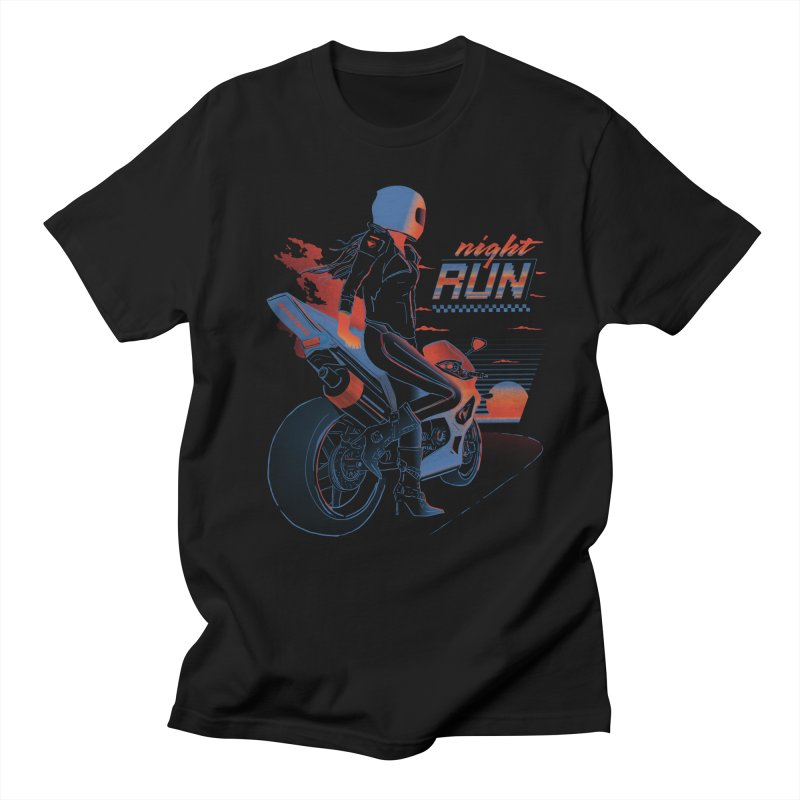 Night Run Men's Regular T-Shirt by Dega Studios