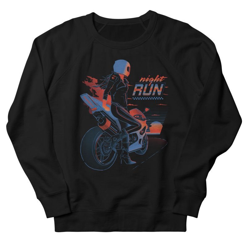 Night Run Women's French Terry Sweatshirt by Dega Studios
