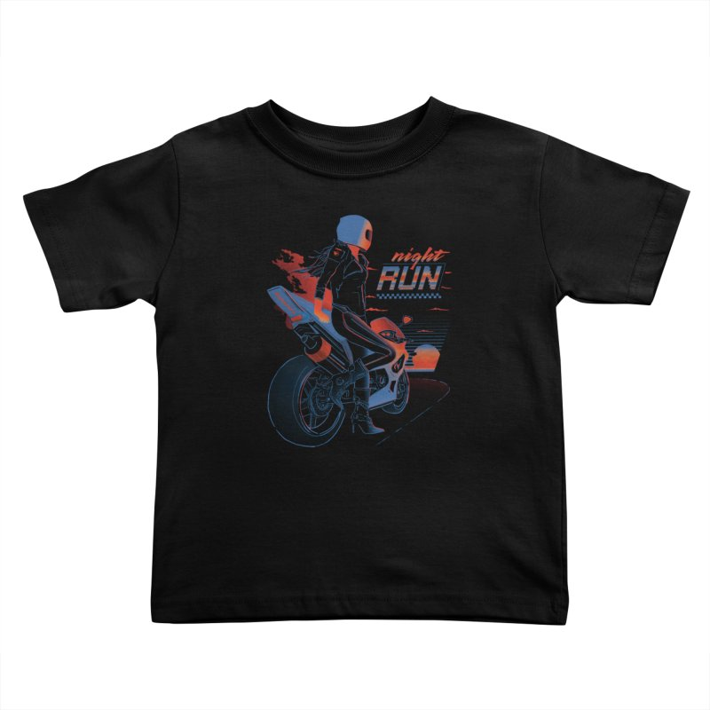 Night Run Kids Toddler T-Shirt by Dega Studios