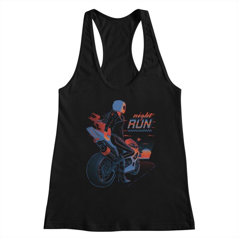 Night Run Women's Racerback Tank by Dega Studios