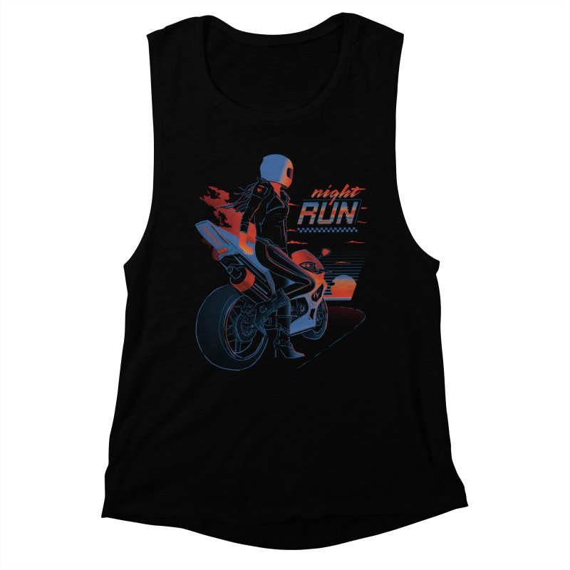 Night Run Women's Muscle Tank by Dega Studios
