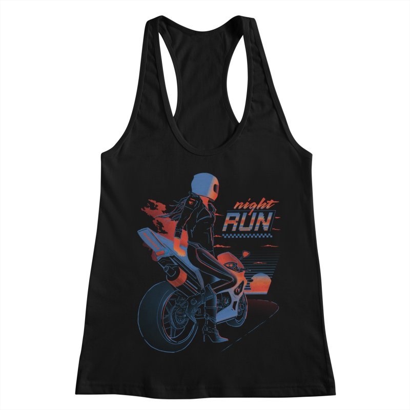Night Run Women's Racerback Tank by Dega Studios