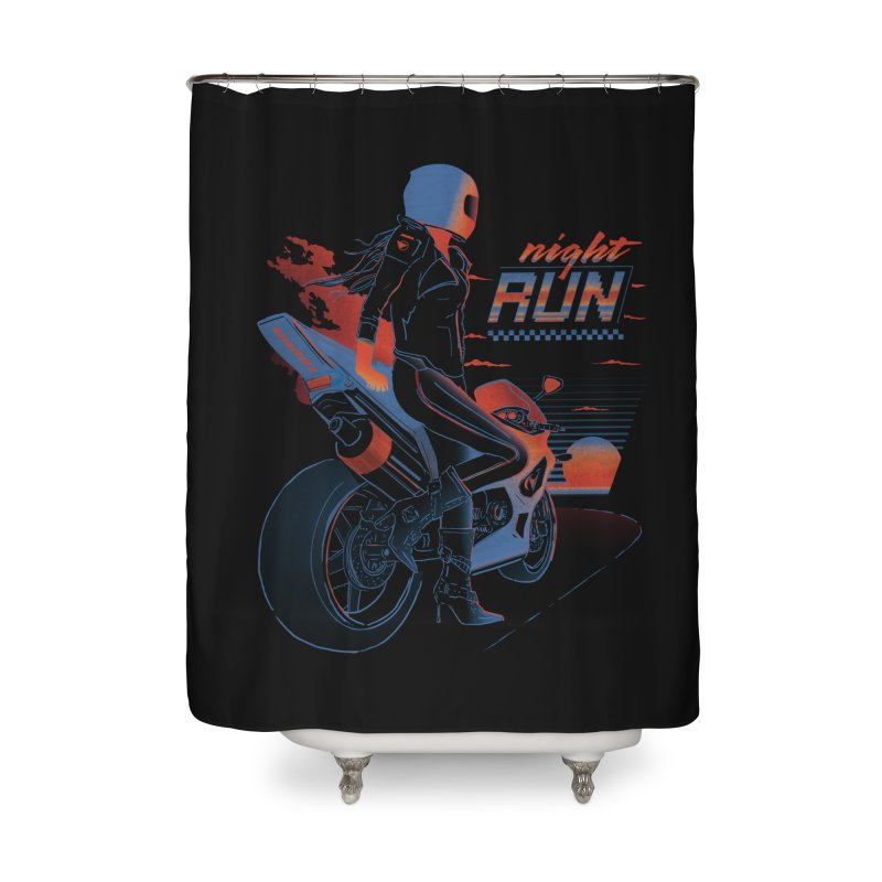 Night Run Home Shower Curtain by Dega Studios
