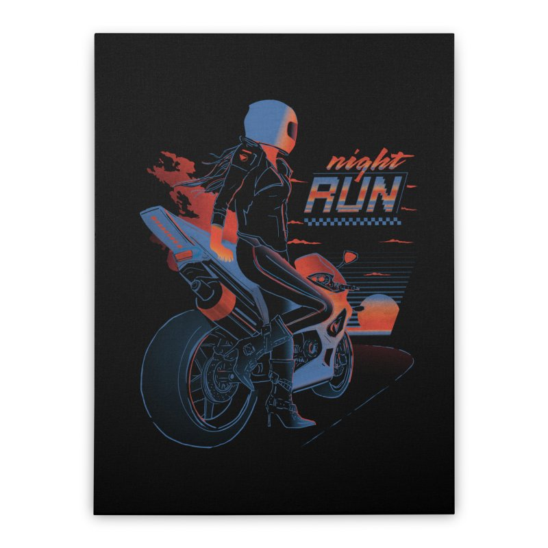 Night Run Home Stretched Canvas by Dega Studios