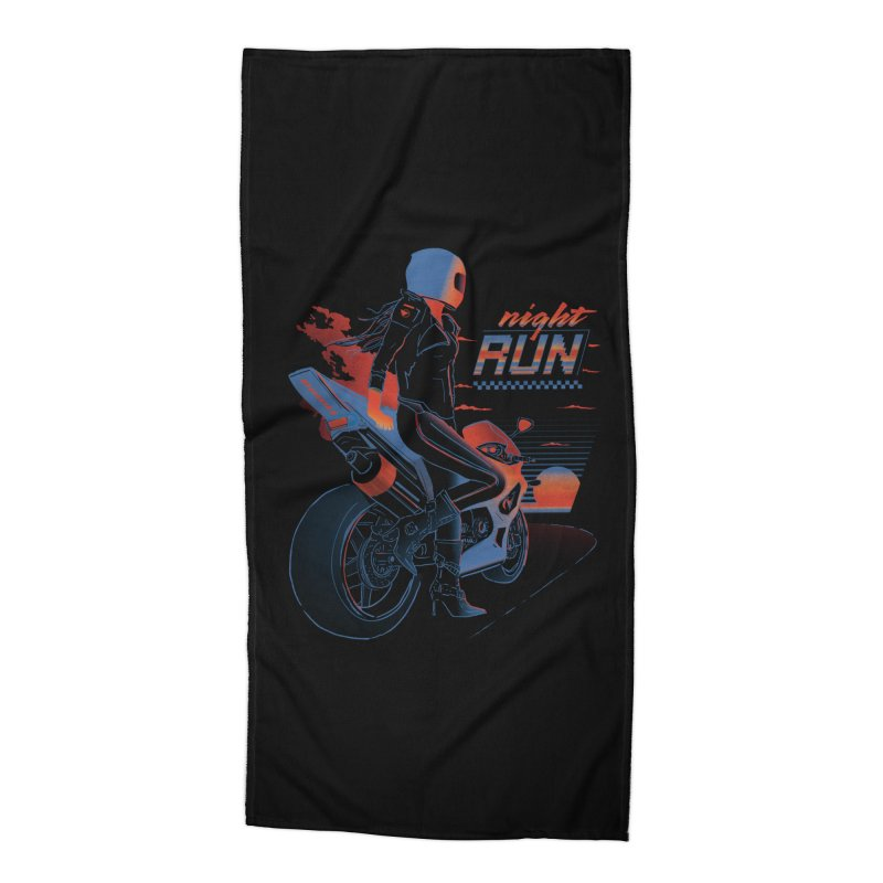 Night Run Accessories Beach Towel by Dega Studios