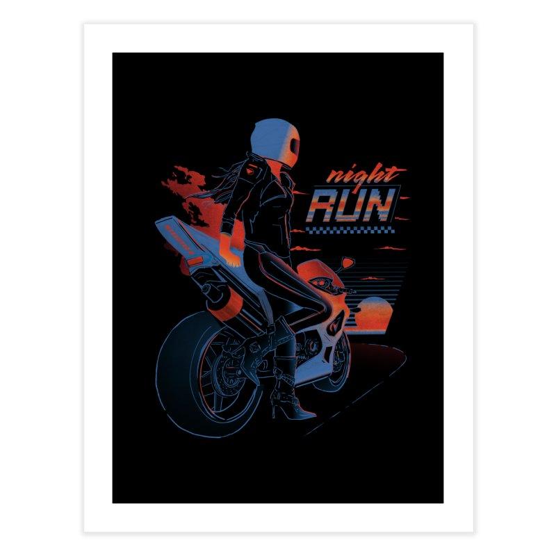 Night Run Home Fine Art Print by Dega Studios