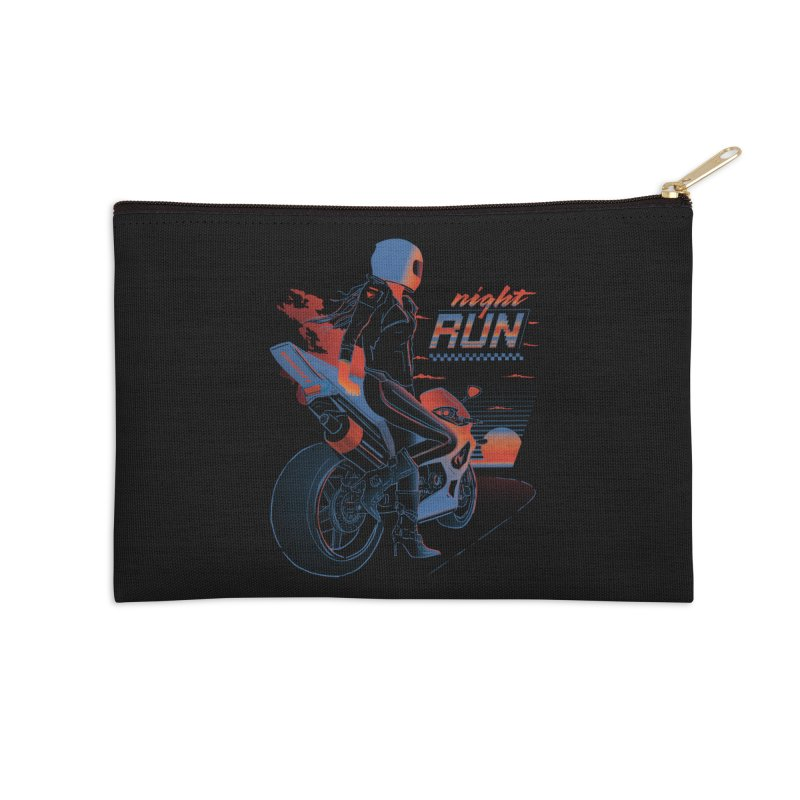 Night Run Accessories Zip Pouch by Dega Studios
