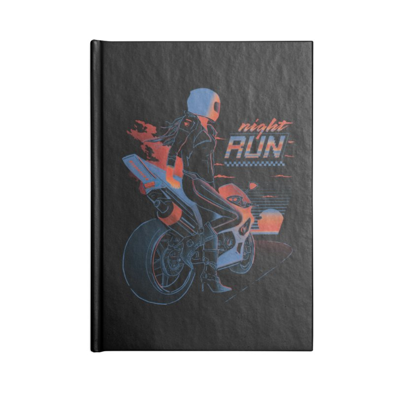 Night Run Accessories Lined Journal Notebook by Dega Studios