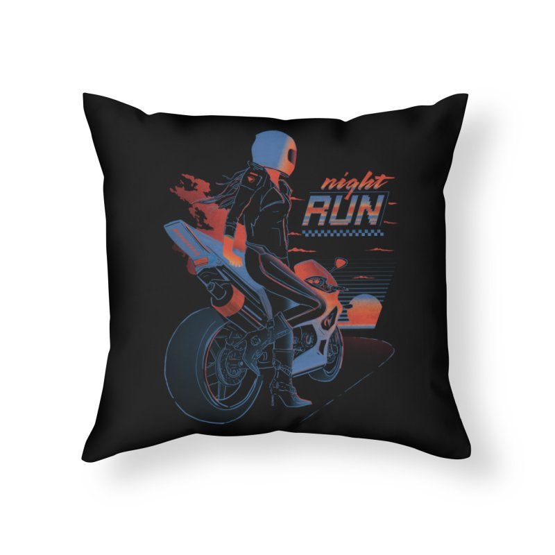 Night Run Home Throw Pillow by Dega Studios