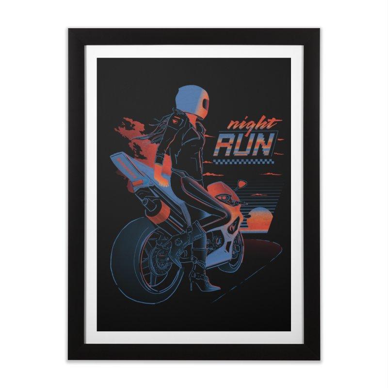 Night Run Home Framed Fine Art Print by Dega Studios