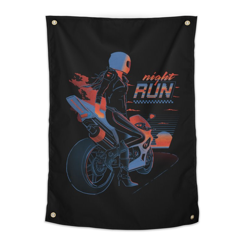 Night Run Home Tapestry by Dega Studios