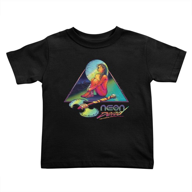 Neon Dead Kids Toddler T-Shirt by Dega Studios