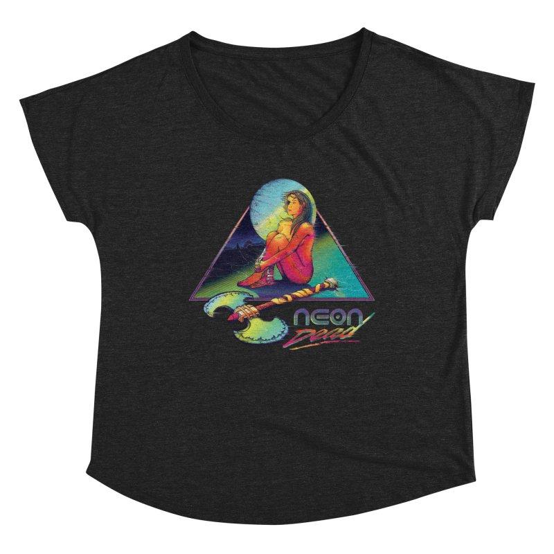 Neon Dead Women's Dolman Scoop Neck by Dega Studios