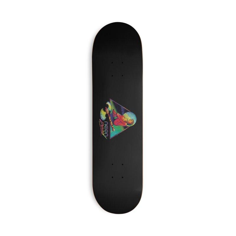 Neon Dead Accessories Skateboard by Dega Studios
