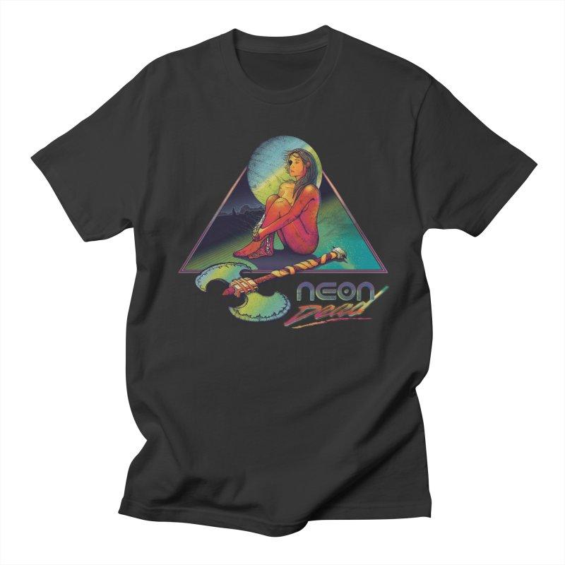 Neon Dead in Men's Regular T-Shirt Smoke by Dega Studios