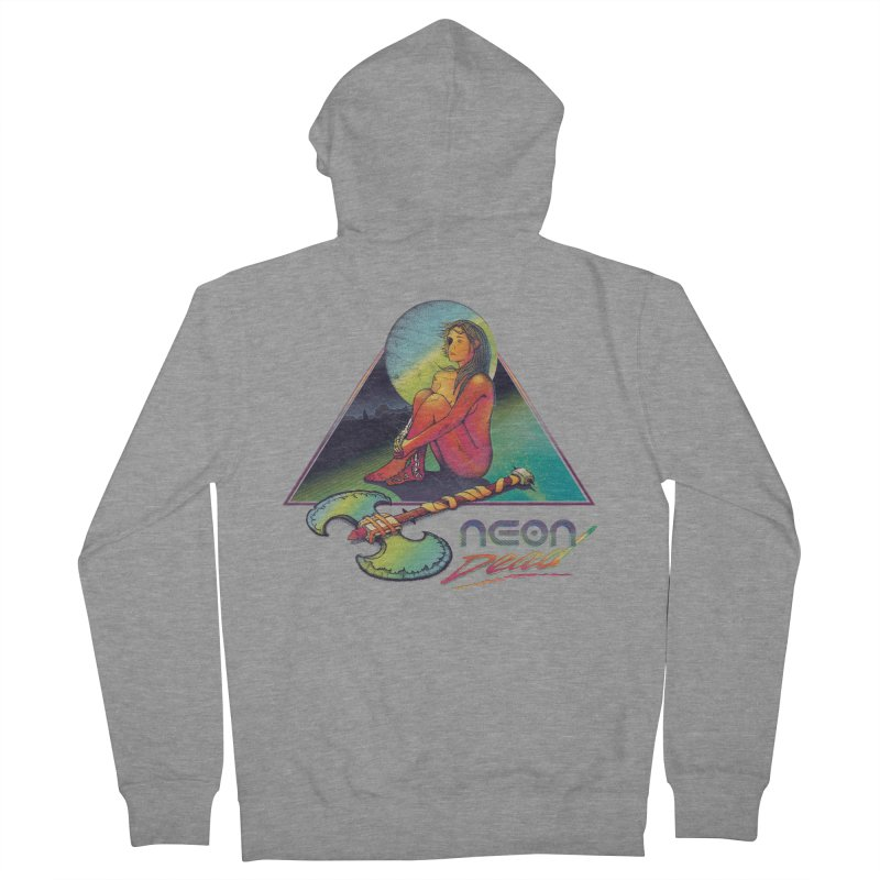 Neon Dead Men's French Terry Zip-Up Hoody by Dega Studios