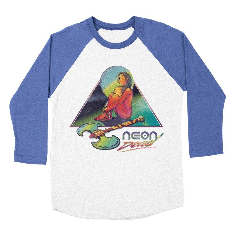 Neon Dead Men's Baseball Triblend T-Shirt by Dega Studios