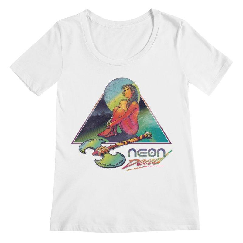 Neon Dead Women's Regular Scoop Neck by Dega Studios