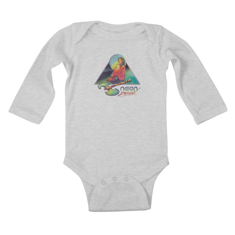 Neon Dead Kids Baby Longsleeve Bodysuit by Dega Studios