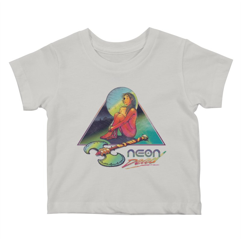 Neon Dead Kids Baby T-Shirt by Dega Studios