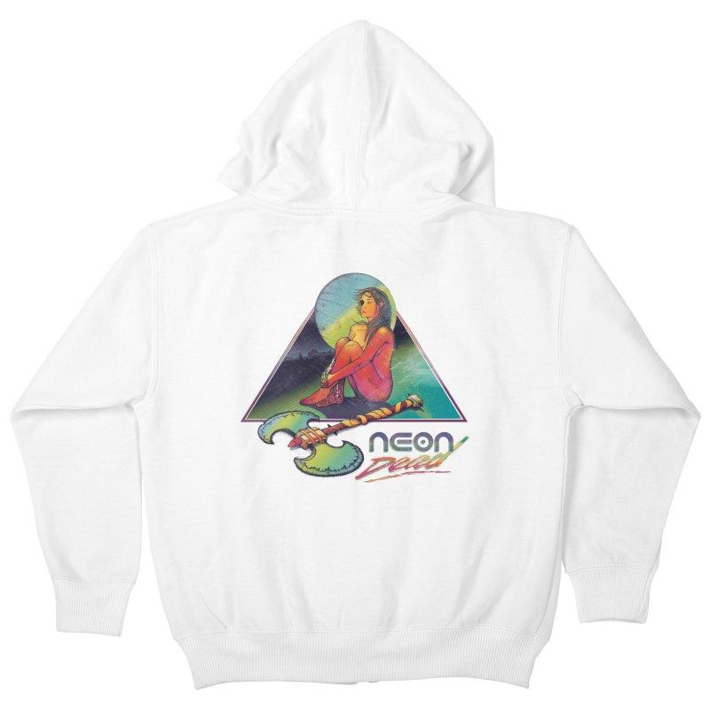 Neon Dead Kids Zip-Up Hoody by Dega Studios