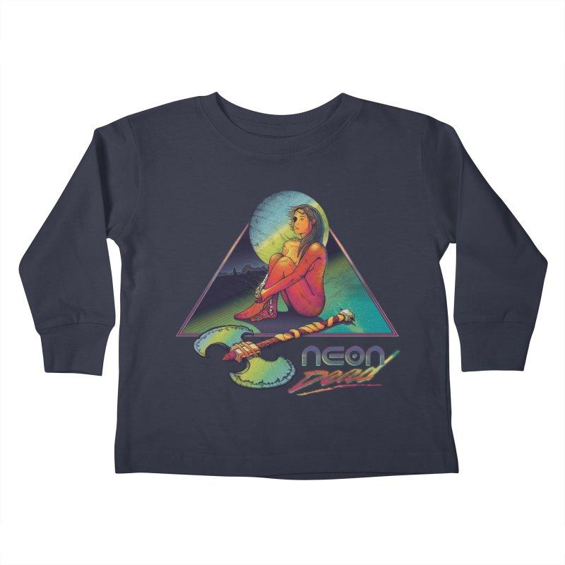 Neon Dead Kids Toddler Longsleeve T-Shirt by Dega Studios