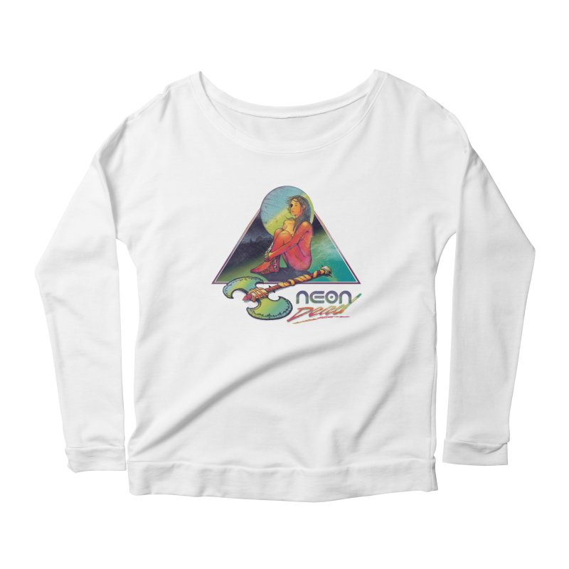 Neon Dead Women's Scoop Neck Longsleeve T-Shirt by Dega Studios