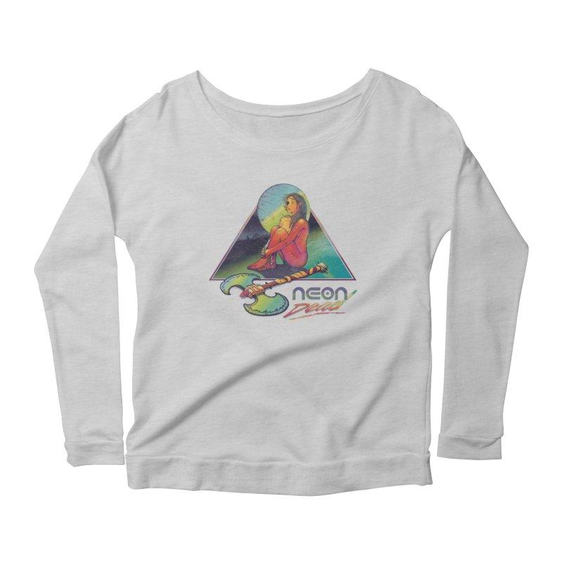 Neon Dead Women's Scoop Neck Longsleeve T-Shirt by Dega Studios