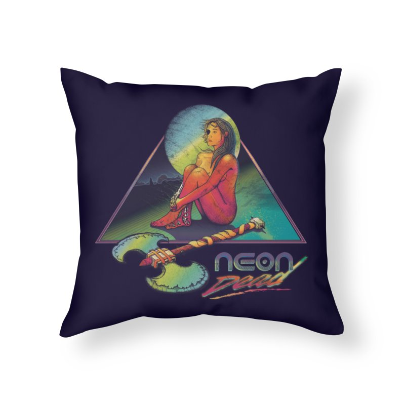Neon Dead Home Throw Pillow by Dega Studios