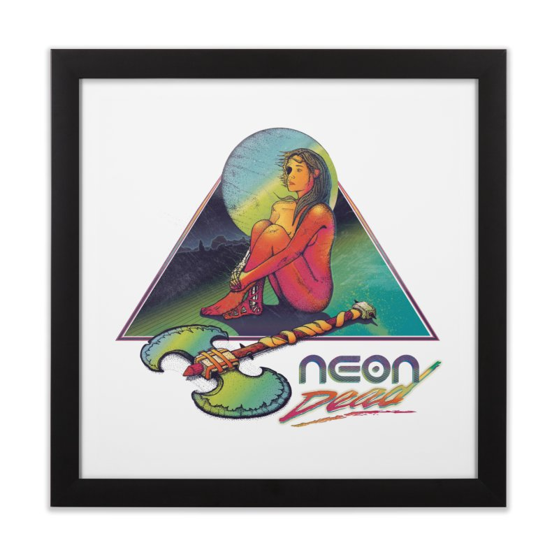 Neon Dead Home Framed Fine Art Print by Dega Studios