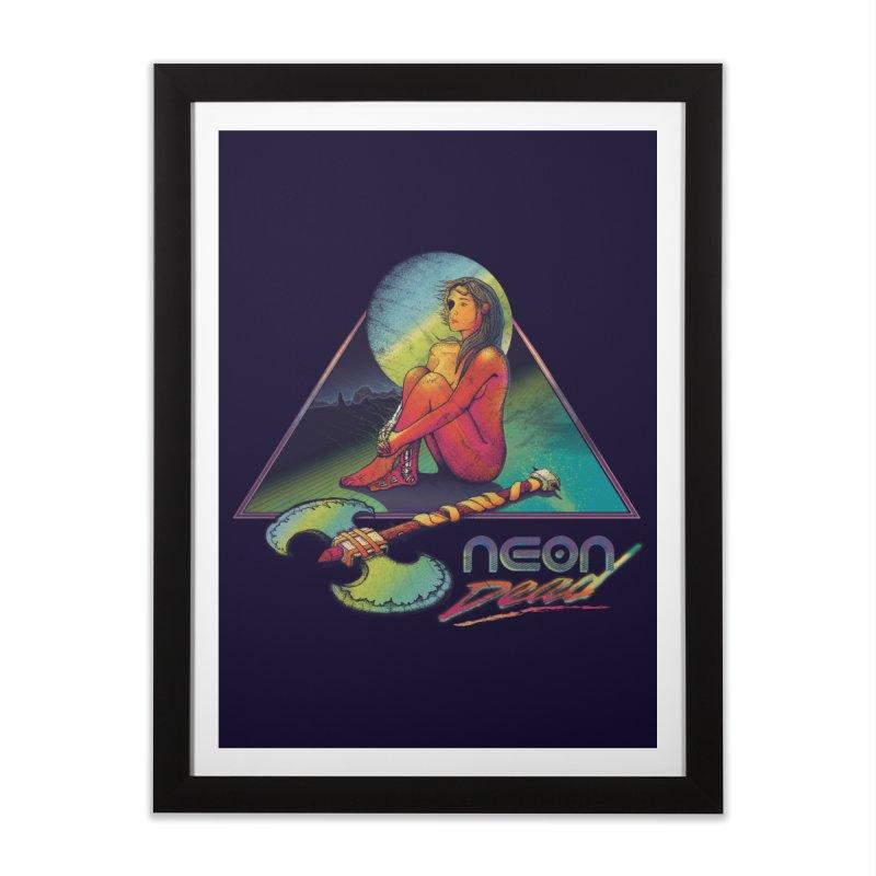 Neon Dead Home Framed Fine Art Print by Dega Studios