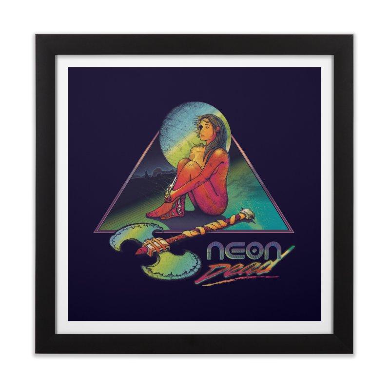 Neon Dead in Framed Fine Art Print Black by Dega Studios