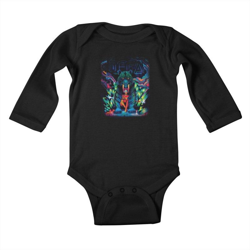 Dega Fatalis Kids Baby Longsleeve Bodysuit by Dega Studios