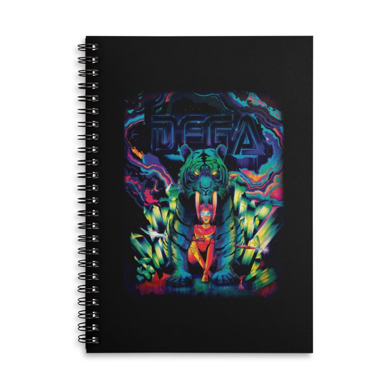 Dega Fatalis Accessories Lined Spiral Notebook by Dega Studios