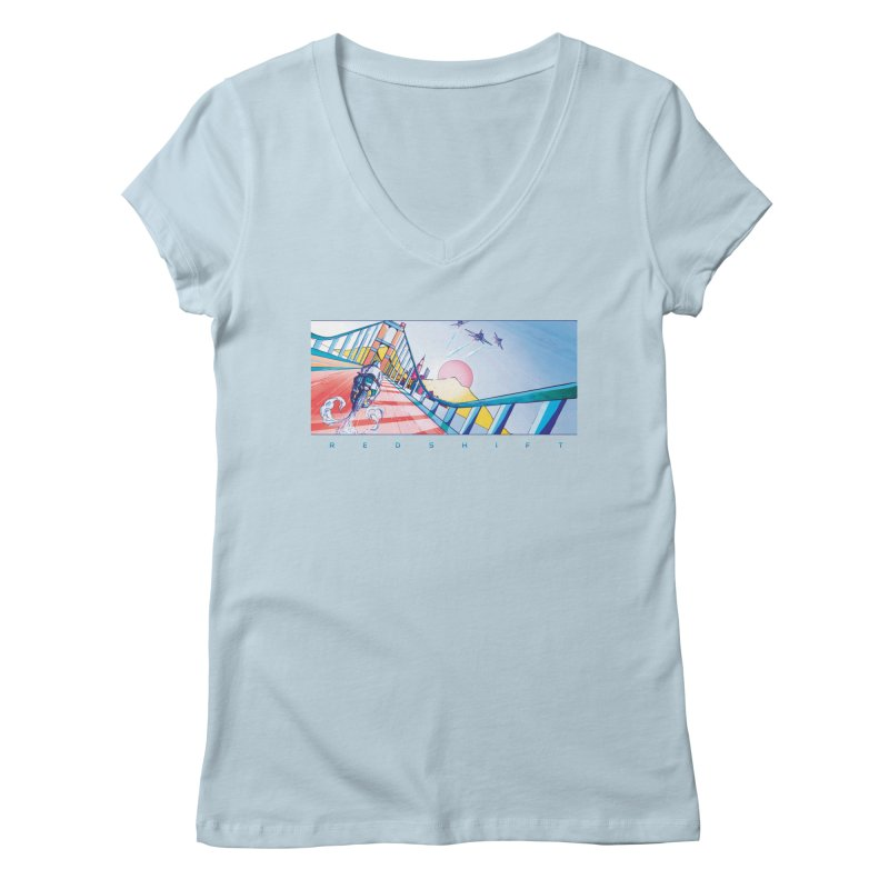 Redshift Women's Regular V-Neck by Dega Studios