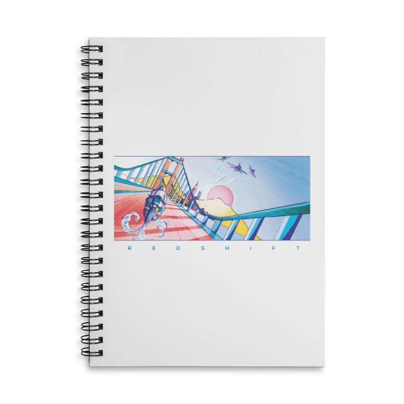 Redshift Accessories Lined Spiral Notebook by Dega Studios