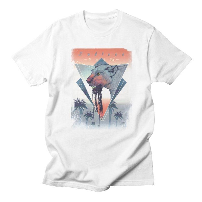 Endless Palm in Men's Regular T-Shirt White by Dega Studios