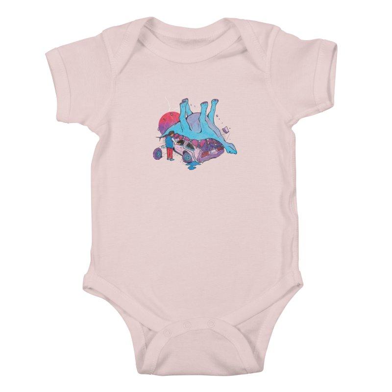 This is Heavy Kids Baby Bodysuit by Dega Studios