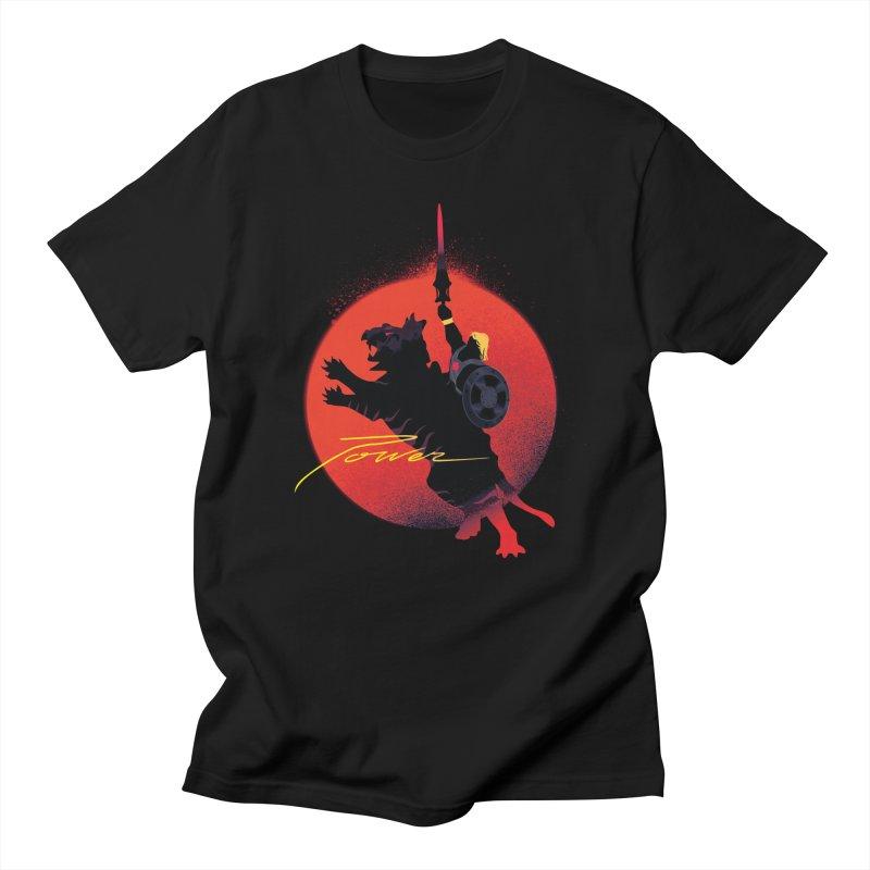Power in Men's Regular T-Shirt Black by Dega Studios