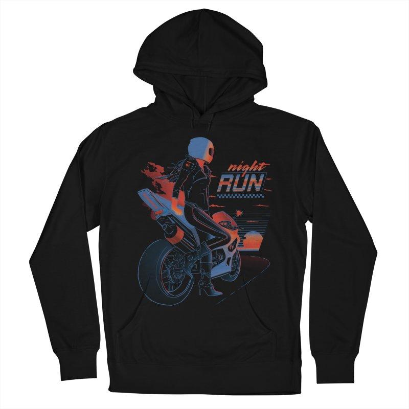 Night Run Men's French Terry Pullover Hoody by Dega Studios