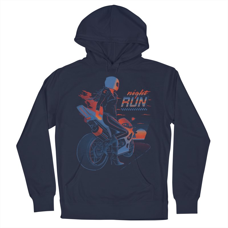 Night Run Men's French Terry Pullover Hoody by Dega Studios