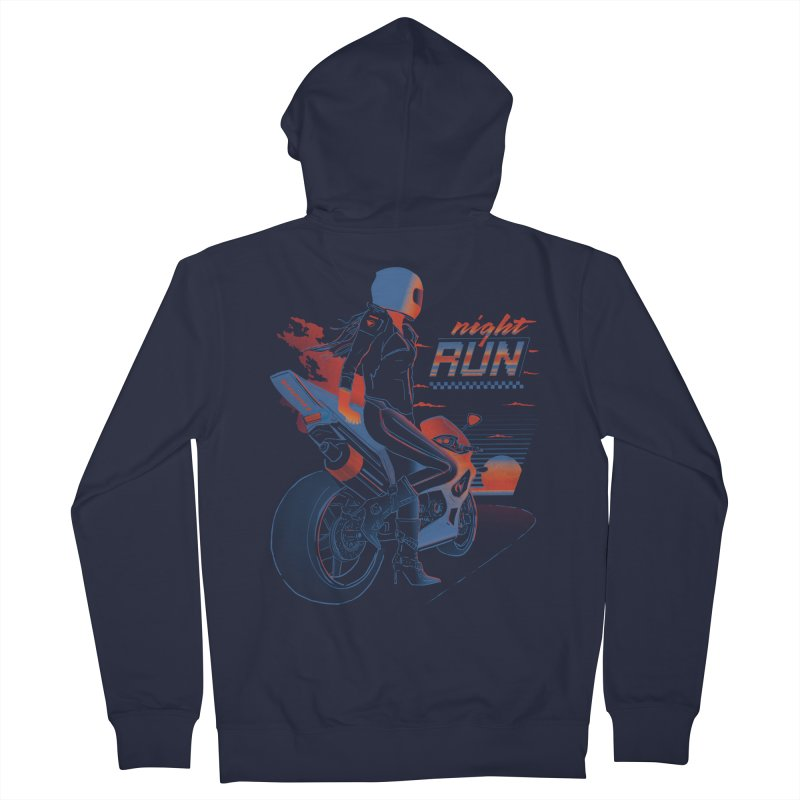 Night Run Men's Zip-Up Hoody by Dega Studios