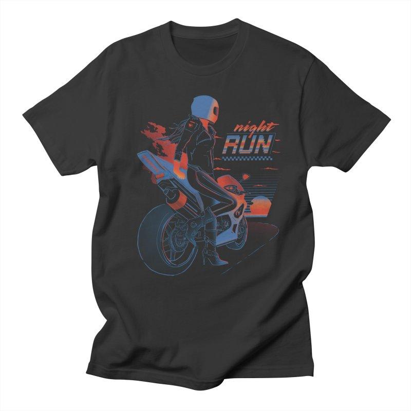 Night Run Women's Regular Unisex T-Shirt by Dega Studios