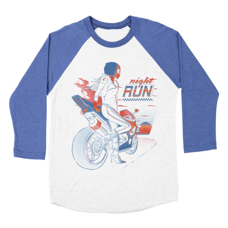 Night Run Women's Baseball Triblend Longsleeve T-Shirt by Dega Studios