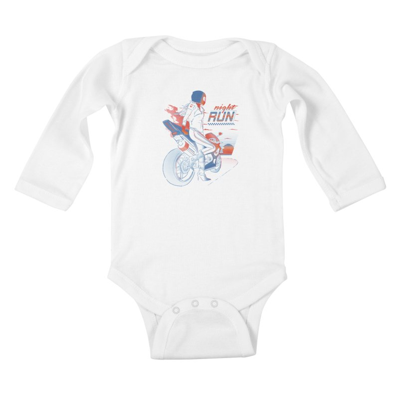 Night Run Kids Baby Longsleeve Bodysuit by Dega Studios