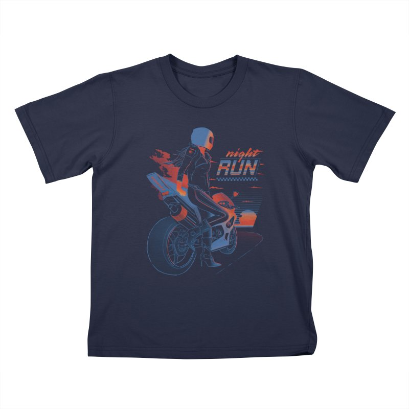 Night Run Kids Toddler T-Shirt by Dega Studios