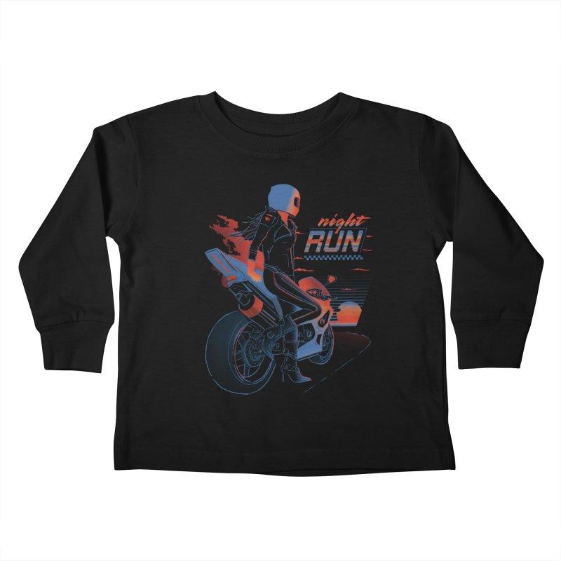 Night Run Kids Toddler Longsleeve T-Shirt by Dega Studios