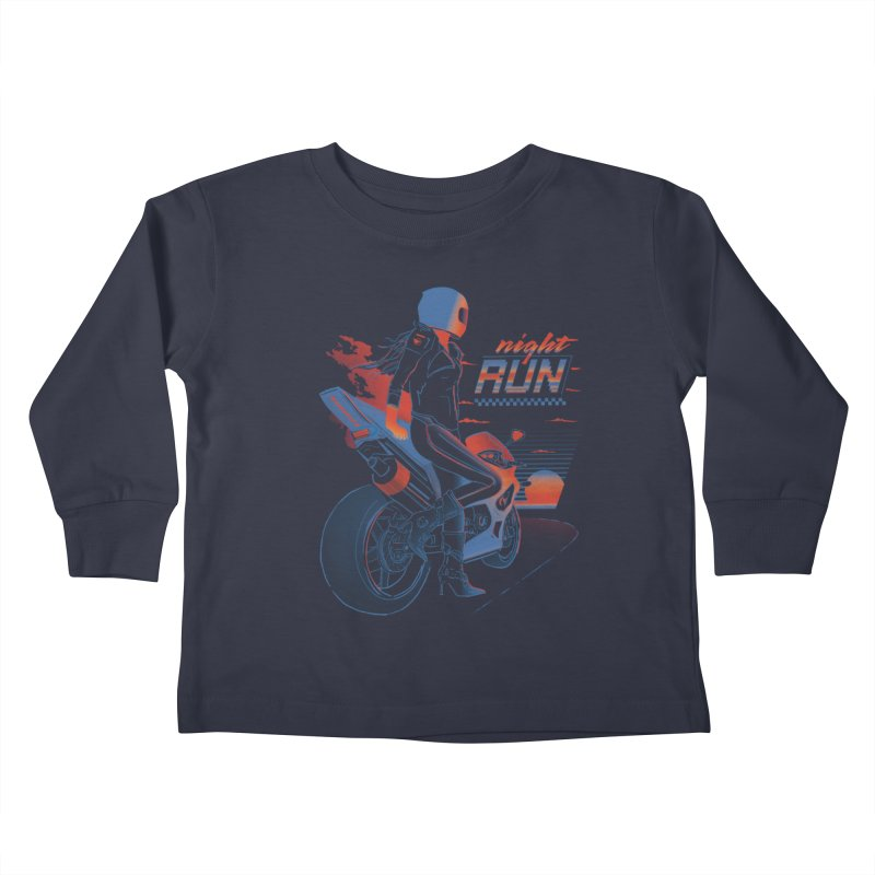 Night Run Kids Toddler Longsleeve T-Shirt by Dega Studios